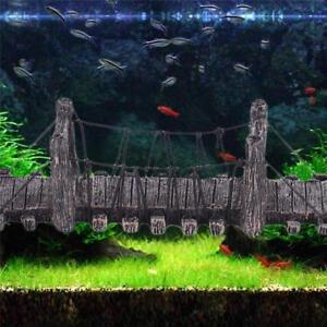 Aquarium Bridge Ornament Fish Tank Decor Resin Decoration Rock Stone Landscape