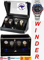 "Luxury Display Quad Automatic Watch Winderl: Galaxy-4CFBK-LED ""Star Wars"""