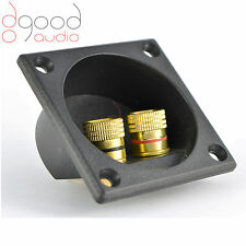 1x High Quality Gold Plated Round Speaker Binding Posts Terminal Panel Banana