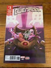 Unbelievable Gwenpool #1 Comic Book Htf Variant Signed Stan Lee Jsa Certified