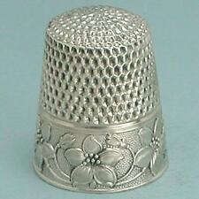 Antique Sterling Silver Dogwood Thimble by Webster Co. * Circa 1920s