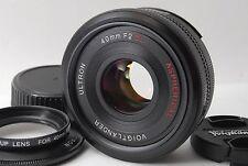 Near MINT Voigtlander Ultron 40mm f/2 Aspherical MF SL II Lens For Nikon Japan