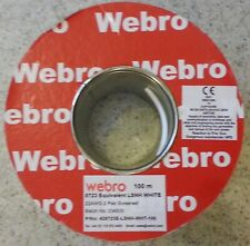 Webro Belden Alarm Cable 2 Pair Screened LSNH White 100m P/N 428723E Ref:A