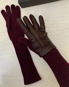 Bottega Veneta Leather Cashmere + Long Gloves 100% Geniune  NEW RRP £345