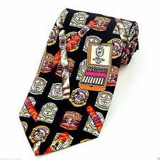 Cigar Bands Mens Neck Tie Smoking Necktie Humidor Box Cuban Novelty Gift New