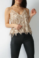 Tassel Chain Sequin Top in Gold (RRP £52.99) in the style of R.I