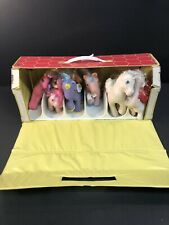 Lot of 19 Vintage Kuddlee Ponee Carry Case My Little Pony Tara Toy Ponies