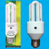 2x 15W LOW ENERGY DUSK TILL DAWN SENSOR SECURITY LAMP NIGHT LIGHT BULB E27 SCREW
