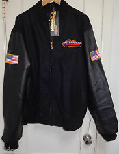 Power Trip SULLIVANS INC Promo Dealer Lettermans Leather & Wool Jacket XL nwt