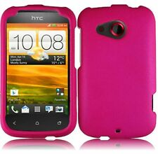 For Cricket HTC Desire C Rubberized HARD Case Snap On Phone Cover Hot Pink