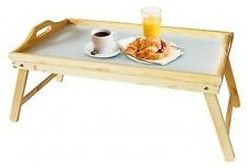NEW PINEWOOD SNACK FOLDING LEGS LAP BED TRAY BREAKFAST SERVING TABLE