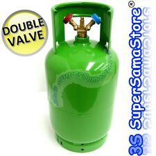 3S air conditioning REFRIGERANT EMPTY RECOVERY CYLINDER BOTTLE 12kg DOUBLE VALVE