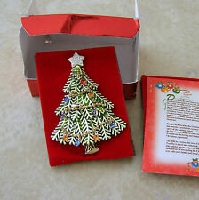 Avon Christmas Tree Pin Brooch Enamel 2008 Annual Jewels Dangling Ornaments