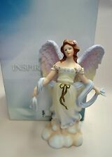 "MARURI ""ANGEL OF THE WIND"" ANGEL FIGURINE, HAND-DECORATED, NEW IN BOX, MINT"