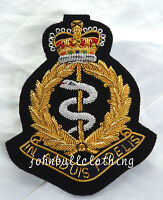RAMC Wire Embroidered Bullion Blazer Badge - British Army