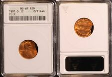 1981-D  Lincoln Cent - Clip Error  ANACS MS64 red