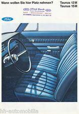 Prospetto FORD TAUNUS 12m 15m 1967 CAR brochure auto automobili Europa GERMANIA