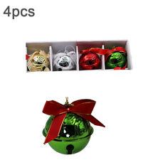 4pcs Large Christmas Jingle Bells Decoration Hanging Christmas Tree Bell 6.3cm