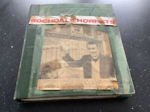 ROCHDALE HORNETS RUGBY LEAGUE SCRAPBOOK WITH NEWSPAPER MATCH REPORTS 1968-73/4