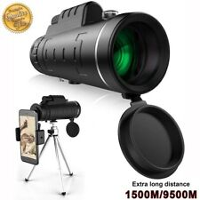 40X60 Zoom Optical 18X Hd Lens Monocular Telescope + Tripod +Clip for Cell Phone