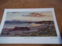Postcard vintage Colin Hunter Goodnight To Skye Glasgow Art Gallery