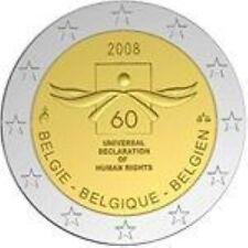 Belgie 2008  2 euro com. UNC   Mensenrechten   UNC uit de rol !!!
