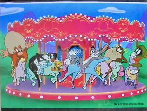 Warner Bros BUGS BUNNY TWEETY YOSEMITE SAM CAROUSEL Sericel Animation Art Cel