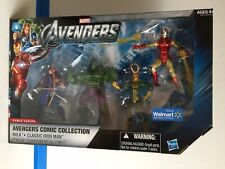 MARVEL UNIVERSE Walmart Exclusive AVENGERS COMIC Series COLLECTION Hulk Loki 4pk