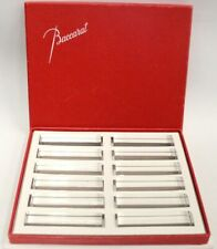 More details for set of 12x baccarat france made crystal glass cutlery/ utensil stands boxed -s40