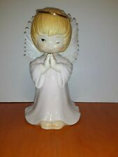 Winking/Praying Angel Figurine with Fiber Optic Wings. Great Condition