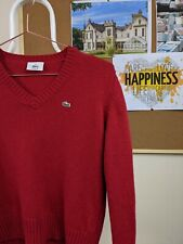 Lacoste Kids/Womens V-neck Jumper | Age 12 or Size 4 Womens