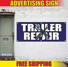 Trailer Repair Advertising Banner Vinyl Mesh Decal Sign Truck Service Full Open