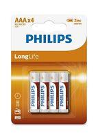 4 Piles Philips LR 3 - Validité 11 / 2021