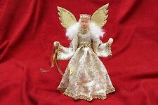 angelo con testa di cera - Artigianale - foglia oro - Handmade - 17cm