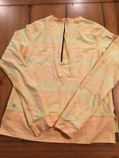 Lulu Lemon Size 4 Yellow Long Sleeve Top UC1