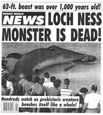 LOCH NESS MONSTER IS DEAD! & UFO ATTACK! -- Weekly World News February 21, 1995