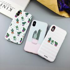 For iPhone X XSMax XR 6 6S 7 8 Plus Cute Cactus Flamingo Pattern Soft Phone Case