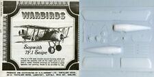 Rare Plane Warbirds 1:72 Sopwith 7F.1 Snipe Vacuform Aircraft Model Kit #Ws7F1