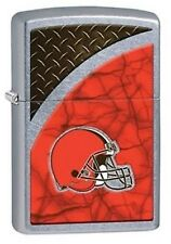 Zippo 29358 Cleveland Browns NFL Street Chrome Finish Lighter