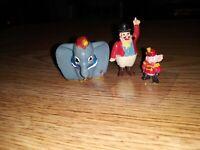 Vintage Marx Disneykins Dumbo, Ringmaster. Timothy Mouse