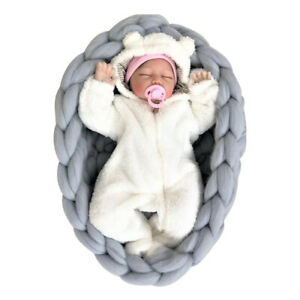 Crib Posing Background Studio Woven Photo Shoot Photography Props Baby Bed