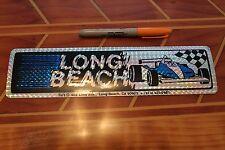 LONG BEACH - GRAND PRIX NASCAR RACE CAR NOS 80's vtg. 3x11in. Prism STICKER