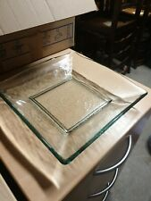 Large Square Glass Plate with Thick glass folded rim 267mm Square.