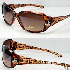 New DG Eyewear Womens Designer Fashion Wrap Sunglasses Shades Tortoise Brown 240