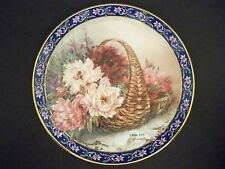 """Collector Plate W S George """"Peonies"""" Lena Liu'S Basket Bouquets"""
