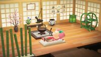 Animal Crossing New Horizon(ACNH) Package: Japanese Zen Bamboo Relaxing Spa Room