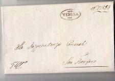 1807 R.ITALIA lettera VERONA-SAN BONIFAZIO-cartella ORNATO da DIP.ADIGE-j177