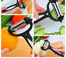 3 IN 1 ROTARY FRUIT VEGETABLE CARROT POTATO PEELER CUTTER SLICER SPEED PEELER