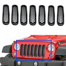 Honeycomb Front Grill Mesh Grille Insert Kit For Jeep Wrangler Rubicon Sahara JK