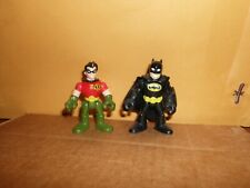 Fisher Price Lot Of 2 Imaginext Batman and  Robin Action Figure Toys